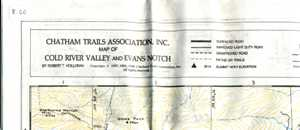 Chatham Trails Association Map of Cold River Valley and Evans Notch