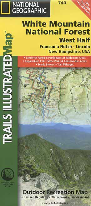 Trails Illustrated Map White Mountain National Forest West Half - Trails illustrated maps