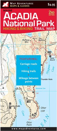 Acadia National Park Trail Map - Paper Books & Maps - The Mountain ...