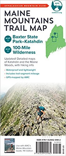 AMC Maine Mountains Trail Map: Baxter State Park-Katahdin and 100 ...