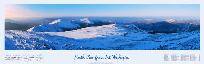 North View from Mt. Washington Poster