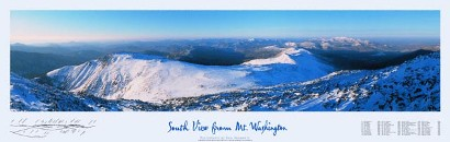 South View from Mt. Washington Poster
