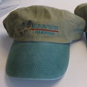 0900b4b2e549cd Mountain Wanderer Baseball Cap - Green Custom-made by Original Design Co.  of Haverhill, NH. 100% cotton baseball cap with green brim. One size fits  all, ...