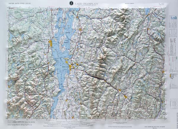 Raised Relief Map: Lake Champlain Regional