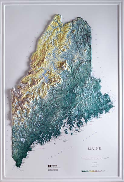Raised Relief Map Maine Books Maps The Mountain Wanderer - Us raised relief map