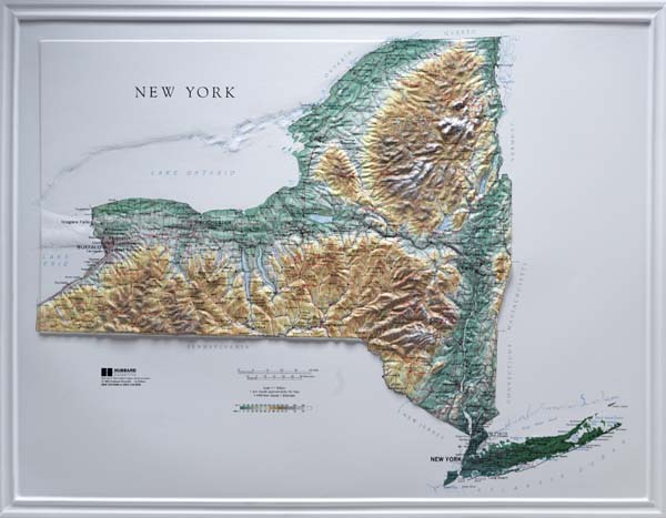 Raised Relief Map New York Books Maps The Mountain Wanderer - Us raised relief topographical map