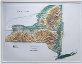 Raised Relief Map: New York