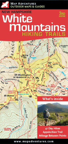 White Mountains Hiking Trails Map Books & Maps - The Mountain Wanderer